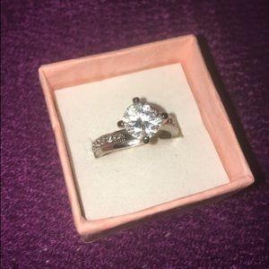 SS CZ Diamond Ring - Size 7
